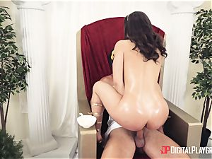 stellar whore pounded in the backside at a costume soiree