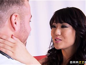 Miko Dai bangs a steamy doc in front of her husband