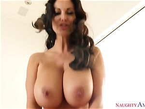 big-titted gal Ava Addams with immense curvaceous mammories takes her hubby hard's trunk