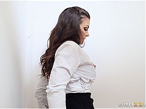 Spanish office bi-atch gobbles immense meat in the restroom
