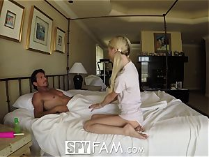 SpyFam Step daughter Piper Perri screw and internal cumshot