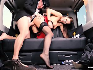 plowed IN TRAFFIC - british Tina Kay poked in the car