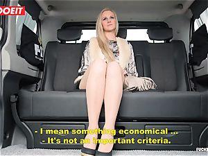 LETSDOEIT - mischievous Czech tempts and bangs Uber Driver