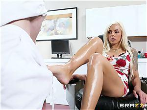 Nina Elle - rub my legs and do massage my muff
