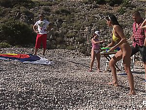 insatiable group fuck-fest tournament on the beach part 1