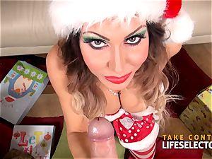 Jessica Jaymes - Christmas deep-throat milf