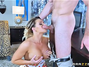 Cali Carter pulverized throughout her desk