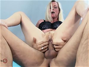 German Mature sloppy Tina Has Her backside penetrated