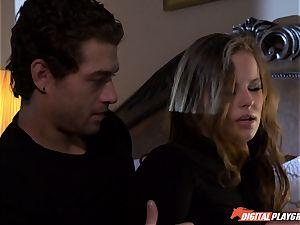 Jillian Janson breaks into boys house and gets beaten