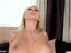 Mandy Dee enjoys burst of immense jism splooge right on her breasts