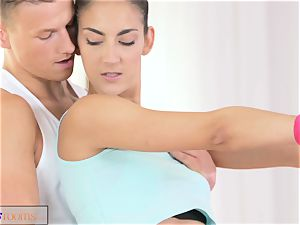 FitnessRooms taut black-haired nubile pulverizes professor