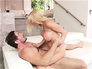 Luxury mature ash-blonde with enormous breasts and mind-blowing donk wants rigid porking