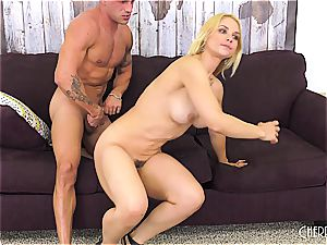 Sarah Vandella pulverizes on webcam and toys her labia to climax