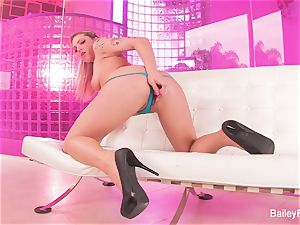 red-hot inked blondie Dahlia Sky plays with a fuck-a-thon fucktoy