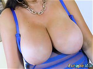 EuropeMaturE big-boobed Mature Lulu lush and immense udders