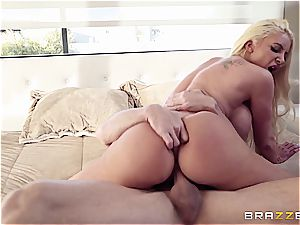 big-chested cowgirl rails a mind-blowing stallion
