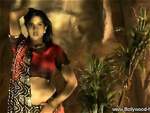 Indian dark-haired Dance Gracefully