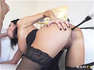 Maid Anissa Kate getting her succulent backside pummeled by a meaty manstick