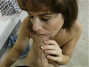 Rocco Siffredi manmeat ramming a pretty dark-haired