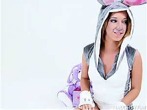 Easter bunnies having a 3 way