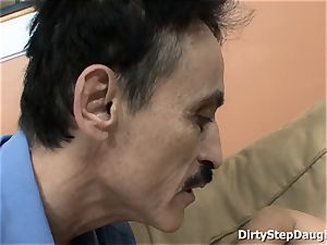 Stepdaughter Kristina Rose Caught father observing porno