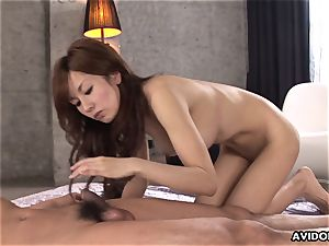 She has a scorching time as she gets a dirty pound to endure