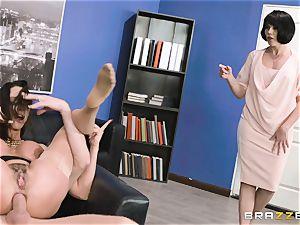 rump pummeling cougar Ariella Ferrera in the office