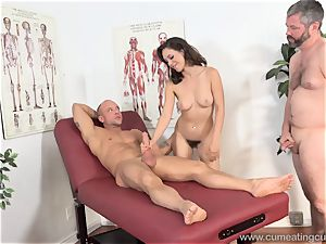 Jade Nile Has Her hubby fellate lollipop and watch Her