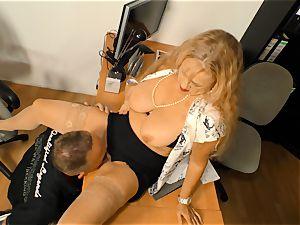 xxxOmas - German grannie licking the cum off a man-meat