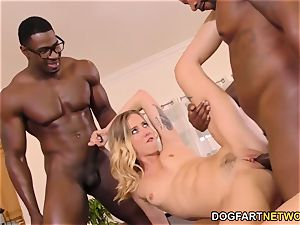 Haley Reed humiliates cuckold With two dark-hued studs
