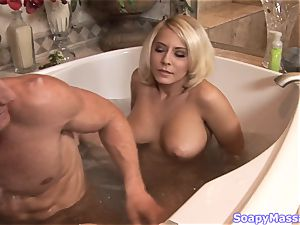 buxom towheaded Madison Ivy railing a rock-hard sausage