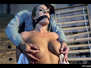 Nicole Vice chair-tied mouth-stuffed unwrapped stimulated