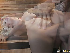 sensuous towheaded gets ultra-kinky using whip juice and her cock-squeezing coochie
