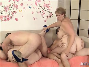 insatiable plumper bang-out with 4 plus-size honies