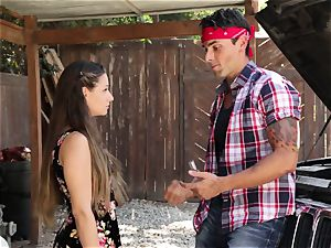 Cassidy Klein gives her fellow a goodbye banging