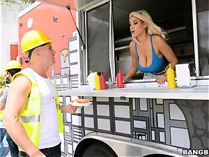 Truck plumbing towheaded cutie Bridgette B
